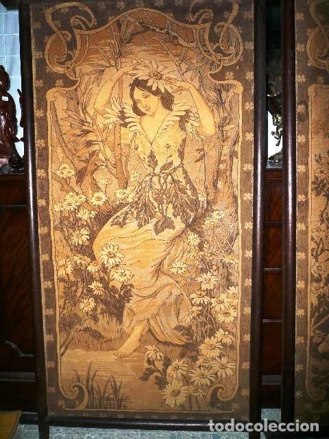 Varios objetos de Arte: Pareja de tapices modernistas. Principios del XX. - Foto 2 - 230358995