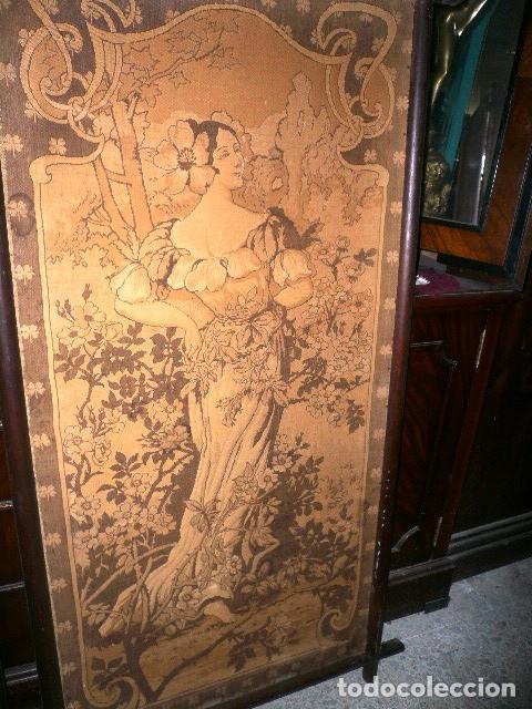 Varios objetos de Arte: Pareja de tapices modernistas. Principios del XX. - Foto 3 - 230358995
