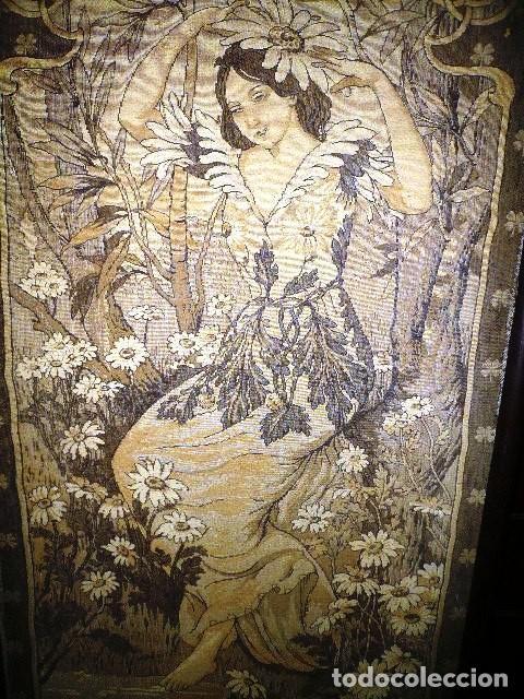 Varios objetos de Arte: Pareja de tapices modernistas. Principios del XX. - Foto 4 - 230358995