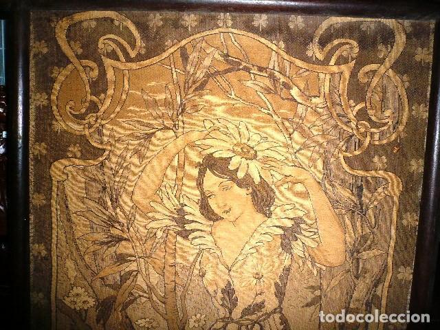 Varios objetos de Arte: Pareja de tapices modernistas. Principios del XX. - Foto 5 - 230358995