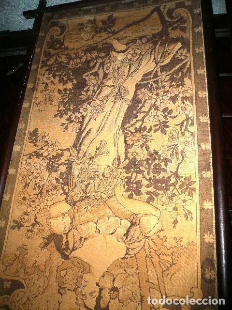 Varios objetos de Arte: Pareja de tapices modernistas. Principios del XX. - Foto 8 - 230358995