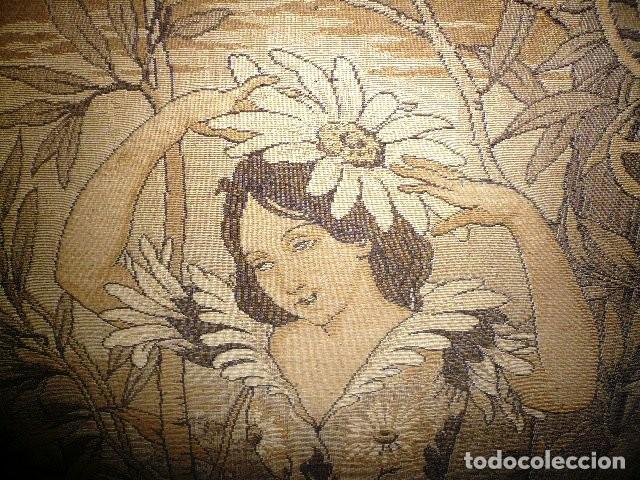 Varios objetos de Arte: Pareja de tapices modernistas. Principios del XX. - Foto 9 - 230358995