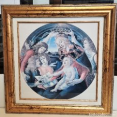 Varios objetos de Arte: CUADRO VIRGEN ADORACION 70 X 70 CON CRISTAL LAMINA. Lote 93248450
