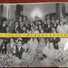 Varios objetos de Arte: FOTO ANTIGUA ORIGINAL HOTEL MAJESTIC HOMENAJE A LA MACARRONA , SEVILLA 1942.. Lote 230769475