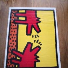 Varios objetos de Arte: CARTEL DE- KEITH HARING BANCAJA 1982 1990 POSTER EXPOSICION GALERIA ARTE. Lote 231423900