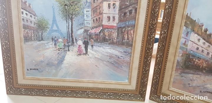 Varios objetos de Arte: PAREJA DE CUADROS PARISINOS P. RENARD - Foto 5 - 231739500