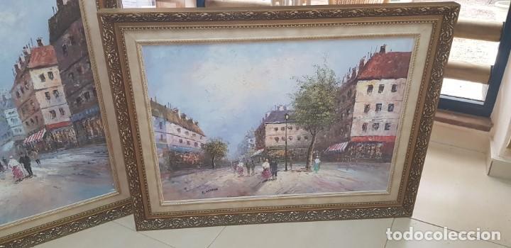 Varios objetos de Arte: PAREJA DE CUADROS PARISINOS P. RENARD - Foto 10 - 231739500