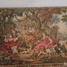 Varios objetos de Arte: EXPLENDIDO Y ANTIGUIO GRANDE TAPETE DE PAREDE HECHO EN TAPECERIA FIESTA PRIMAVERA N.302.MIDE 130X80. Lote 231948555