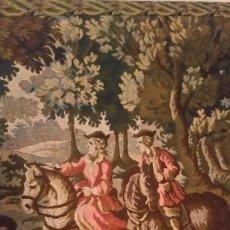 Varios objetos de Arte: EXPLENDIDO Y ANTIGUIO TAPETE DE PAREDE TAPECERIA TIEMPOS DE ISABELINA SUJEITO A CAZA MIDE 165X83. Lote 231949800