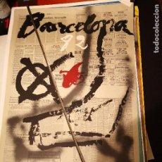 Varios objetos de Arte: POSTER CARTEL ORIGINAL MUNDIAL 82 ESPAÑA BARCELONA TAPIES COPA DEL MUNDO POSTER FUTBOL ARTE. Lote 232073345