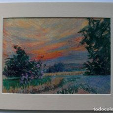 Varios objetos de Arte: FREDERIC VIÑALS I YSCLA (1913-2012) PAISATGE (PASTEL). Lote 232412025