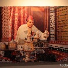 Varios objetos de Arte: TOMANDO EL TE, ESCENA ARABE. IMPRESIÓN SOBRE LIENZO. 90X61CM. Lote 232478710