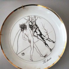 """Art: SALVADOR DALÍ. PLATO DE LA SERIE """"LAS 7 ARTES"""" . LA DANZA.. Lote 232868790"""