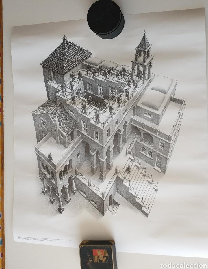 Póster Escher 55x65 Escalera Arriba Y Escalera Comprar En Todocoleccion 232959305