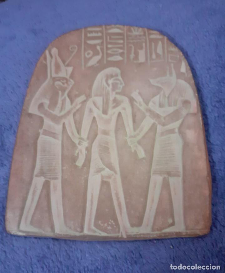 PLAFON DE BARRO CODIDO REPRODUCCION EGIPCIA (Arte - Varios Objetos de Arte)