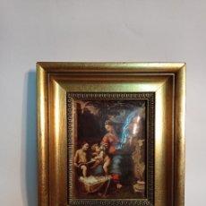 Varios objetos de Arte: PRECIOSO CONJUNTO 3 CUADROS ENMARCADOS POLYSMALT DIFIARTE. Lote 233836625