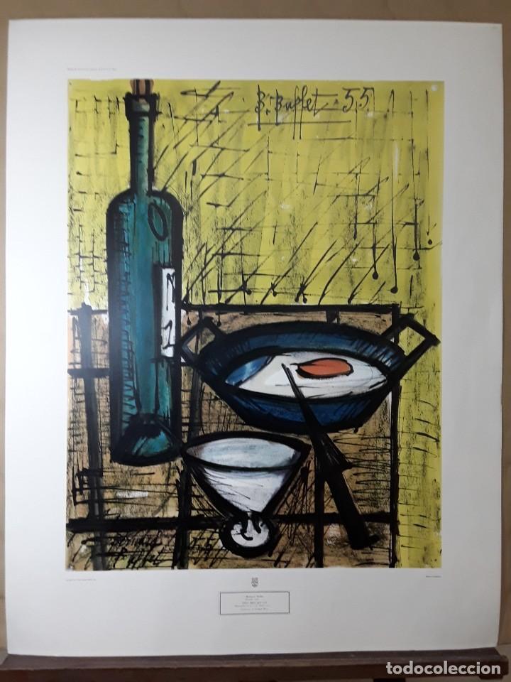 """BERNARD BUFFET. """"EL DESAYUNO"""" 1955. IMPRESIÓN LITOGRÁFICA. NEW YORK GRAPHIC SOCIETY. 84 X 66 CM. (Arte - Varios Objetos de Arte)"""
