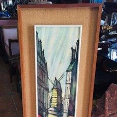 Varios objetos de Arte: CUADRO VINTAGE DE PARÍS. Lote 233917020
