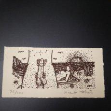 Varios objetos de Arte: VICENTE TALENS LITOGRAFIA FIRMADA A MANO 75/100 COLECCION ARTE GRABADOS OLEO PINTURA. Lote 234130895