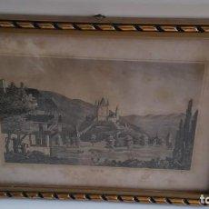 Varios objetos de Arte: ANTIGUIO CUADRO PARA COLECION ANOS 18.20 FOTO DE THUN SUIZA O MARCO ES EN P.V.C PINTADO A DORADO. Lote 234501695