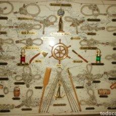 Varios objetos de Arte: CUADRO CON NUDOS MARINOS. NUEVO. ENMARCADO. Lote 234856990