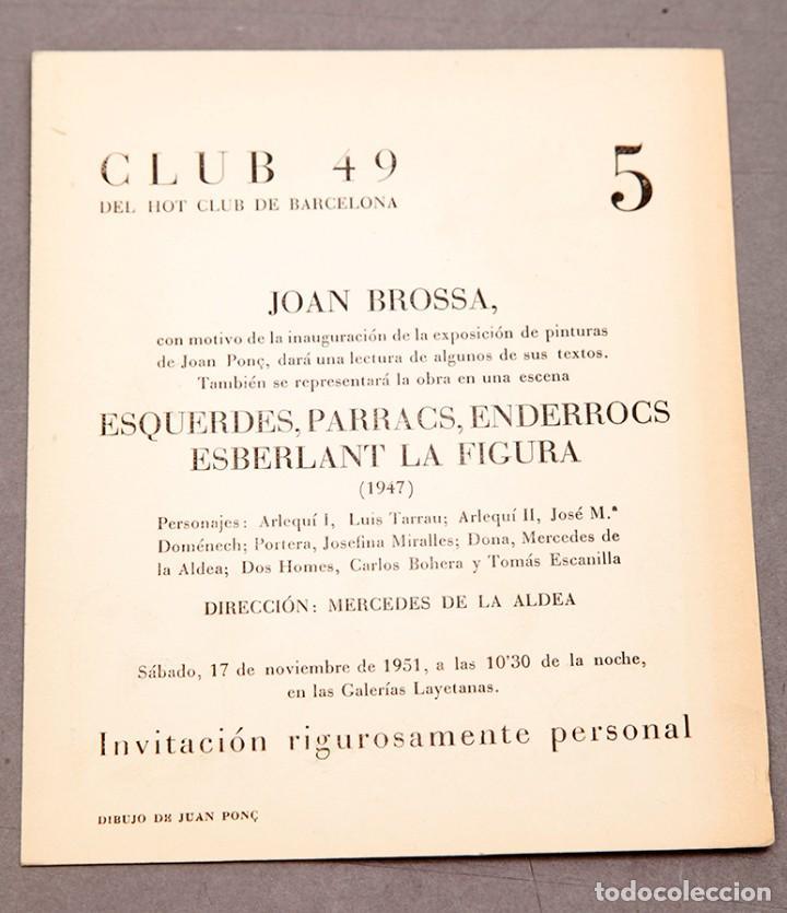 Varios objetos de Arte: Club 49 - 1947 - Brossa - Ilustración de Joan Ponç - Foto 3 - 234902110