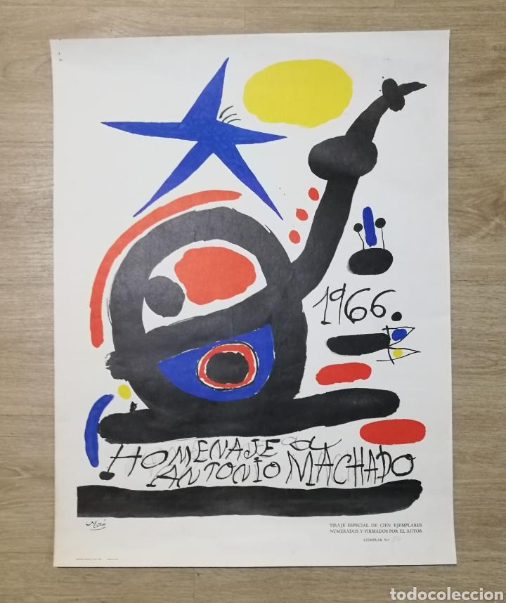 CARTEL HOMENAJE A ANTONIO MACHADO POR JOAN MIRÓ 1966 EJEMPLAR NUMERADO SÓLO 100 EJEMPLARES (Arte - Varios Objetos de Arte)