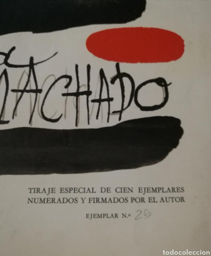 Varios objetos de Arte: Cartel homenaje a Antonio Machado por Joan Miró 1966 ejemplar numerado sólo 100 ejemplares - Foto 2 - 235699275