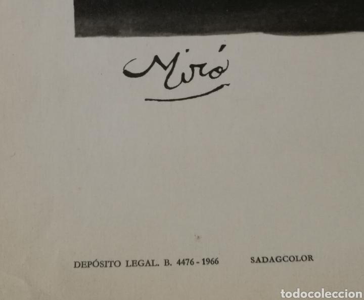 Varios objetos de Arte: Cartel homenaje a Antonio Machado por Joan Miró 1966 ejemplar numerado sólo 100 ejemplares - Foto 3 - 235699275