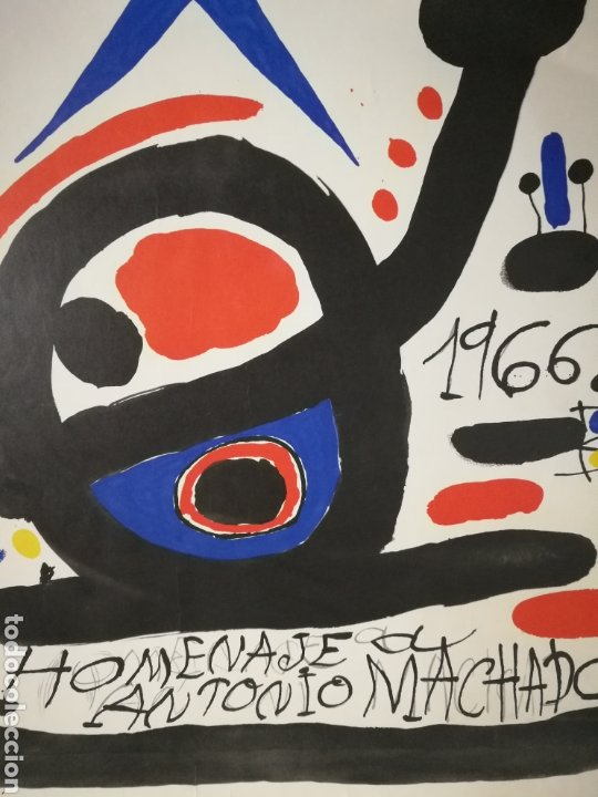 Varios objetos de Arte: Cartel homenaje a Antonio Machado por Joan Miró 1966 ejemplar numerado sólo 100 ejemplares - Foto 5 - 235699275