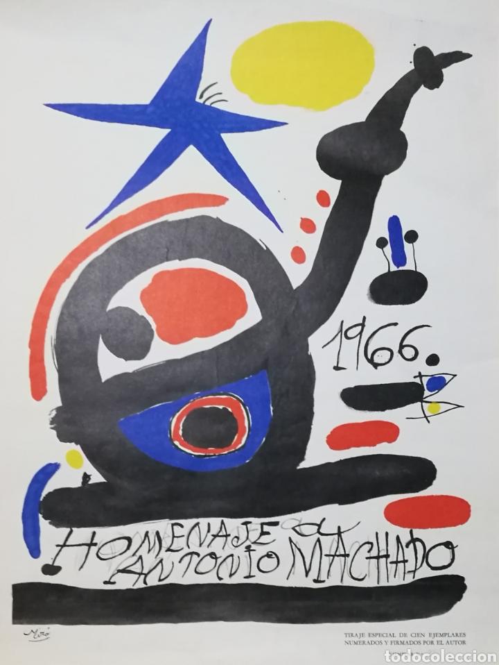 Varios objetos de Arte: Cartel homenaje a Antonio Machado por Joan Miró 1966 ejemplar numerado sólo 100 ejemplares - Foto 6 - 235699275