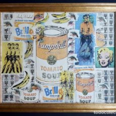 Varios objetos de Arte: ANDY WARHOL PRINT ELVIS, CAMPBELLS, MARILYN MONROE,. Lote 236082190