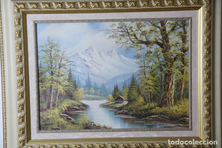 Varios objetos de Arte: Bonita lámina enmarcada con paisaje campestre. Marco de calidad. - Foto 2 - 236769475