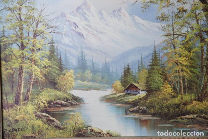 Varios objetos de Arte: Bonita lámina enmarcada con paisaje campestre. Marco de calidad. - Foto 3 - 236769475