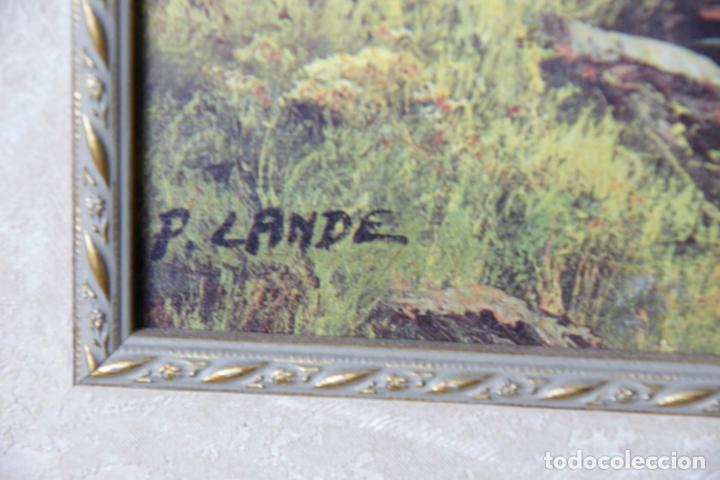 Varios objetos de Arte: Bonita lámina enmarcada con paisaje campestre. Marco de calidad. - Foto 4 - 236769475