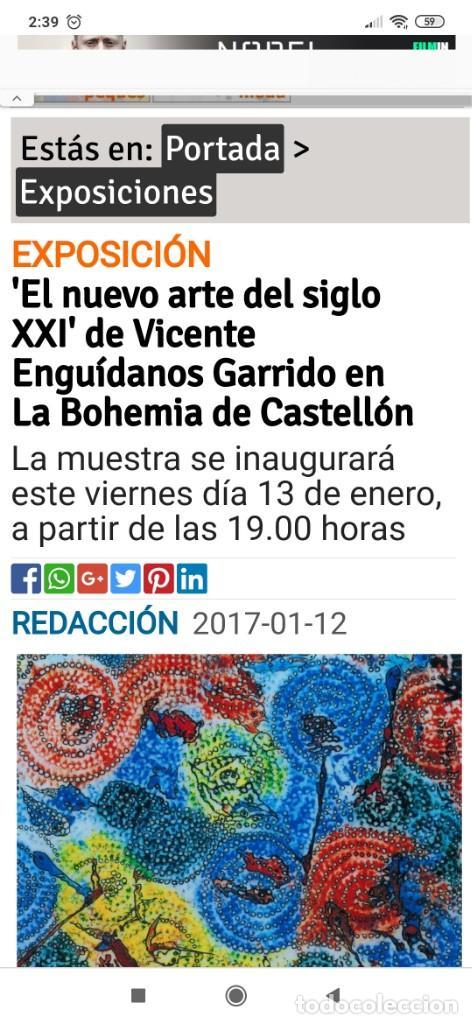 Varios objetos de Arte: RECONOCIDO PINTOR VALENCIANO VICENTE ENGUIDANOS GARRIDO PINTURAS MUSICALES. ÚNICO EN EL MUNDO - Foto 71 - 176374900