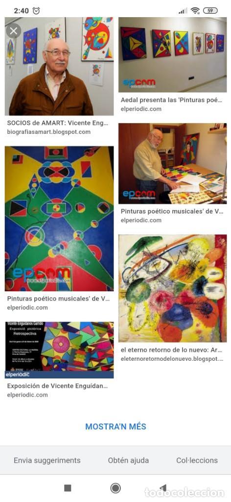 Varios objetos de Arte: RECONOCIDO PINTOR VALENCIANO VICENTE ENGUIDANOS GARRIDO PINTURAS MUSICALES. ÚNICO EN EL MUNDO - Foto 72 - 176374900