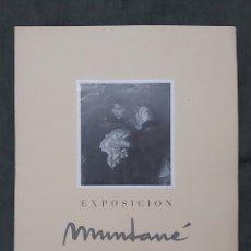 Varios objetos de Arte: CARTEL EXPOSICIÓN MUNTANÉ. LA PINACOTECA 1955. Lote 238594470