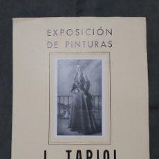 Varios objetos de Arte: CARTEL EXPOSICIÓN J. TAPIOL. GALERIAS ESPAÑOLAS 1950. Lote 238594890