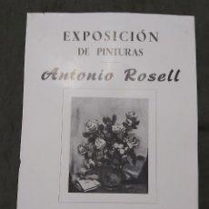 Varios objetos de Arte: CARTEL EXPOSICIÓN ANTONIO ROSELL. LA PINACOTECA 1959. Lote 238596590