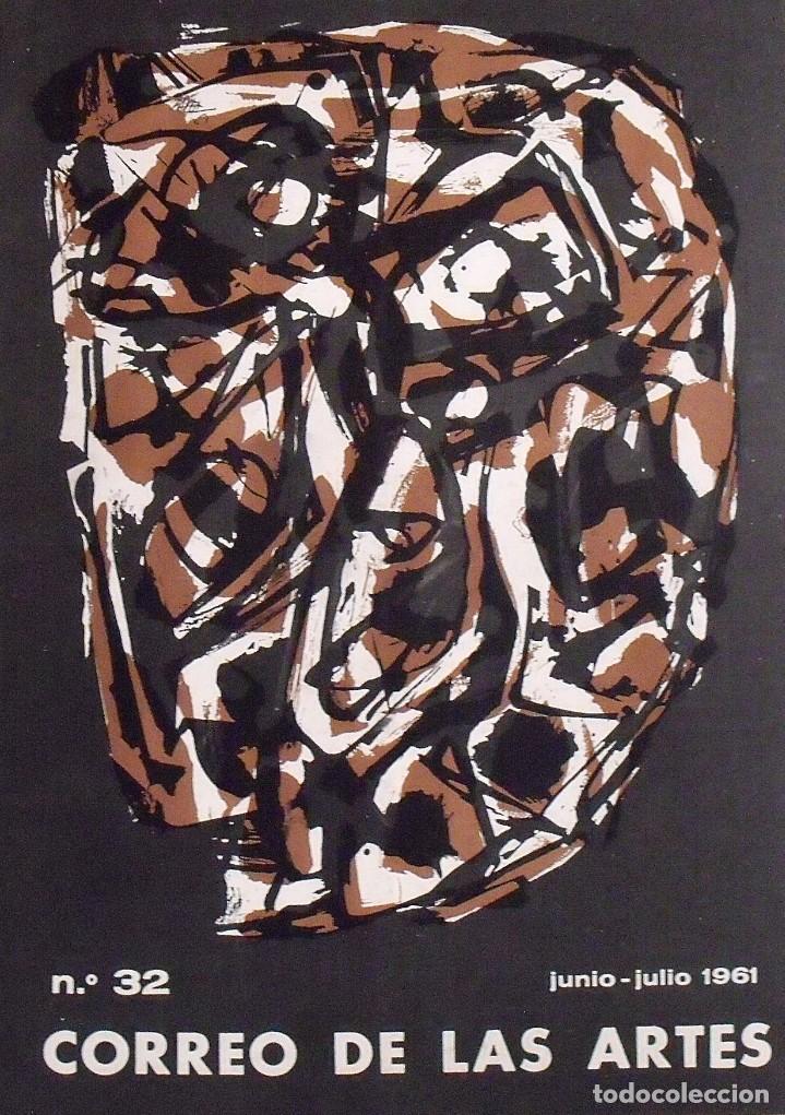 CORREO DE LAS ARTES. 32. JUNIO-JULIO 1961. SIN PAGINAR. PORTADA Y POCHOIR DE ANTONIO SAURA. (Arte - Varios Objetos de Arte)