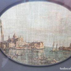 Varios objetos de Arte: LAMINA TELA ENMARCADA DE ESTAMPACION VENECIA ANTIGUA. Lote 238691125
