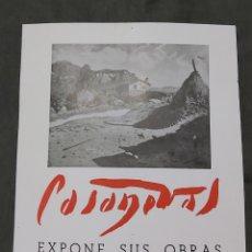 Varios objetos de Arte: CARTEL DE EXPOSICIÓN CASANOVAS. SALA DE ARTE CASA DEL LIBRO 1954. Lote 239402840