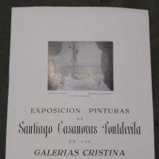 Varios objetos de Arte: CARTEL EXPOSICIÓN SANTIAGO CASANOVAS FONTDEVILA. GALERIAS CRISTINA 1955. Lote 239403275