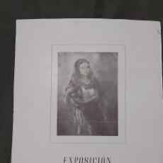 Varios objetos de Arte: CARTEL EXPOSICION LA PINACOTECA 1950. JOSE MARIA TORELLÓ. Lote 239403585