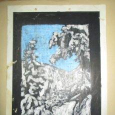 Varios objetos de Arte: ANTIGUO DIBUJO AL PASTEL ORIGINAL FIRMADA PILAR SANTACRUZ. Lote 43875991