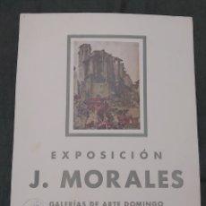 Varios objetos de Arte: CARTEL EXPOSICIÓN 1942 J. MORALES. GALERIAS DE ARTE DOMINGO. Lote 239688840