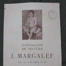 Varios objetos de Arte: CARTEL EXPODICIÓN J. MARGALEF 1942. FAYANS CATALAN. Lote 239693245