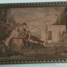Varios objetos de Arte: ANTIGUO TAPIZ ENMARCADO CON ARCO O PUERTA DEL TRIUNFO MONUMENTO A IDENTIFICAR. Lote 239697260