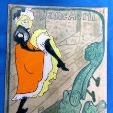 Varios objetos de Arte: TOULOUSE LAUTREC. JANE AVRIL. PLACA DE BRONCE ESMALTADO. Lote 241071005